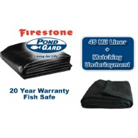 10 x 12 Firestone 45mil Pond Liner and Matching Underlayment Kit