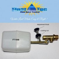 "Float-Tec & Control Devices EZ Adjust 3/8 Brass w/3"" arm MP Replacement Auto Fill Water Leveler Float Valve Pool Spa Pond Fountain"