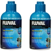 (2 Pack) Fluval Water Conditioner for Aquariums, 16.9 Ounces each