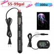 300w Submersible Aquarium Heater Auto Thermostat heater with suction,heater for fish tank water,Bonus thermometer and Jellyfish Decoration