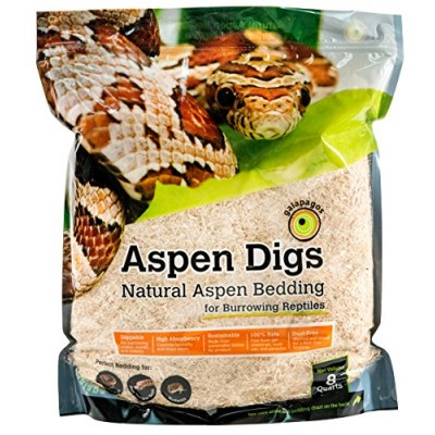 Galapagos (05064) Aspen Digs Shavings Bedding, 8-Quart, Natural