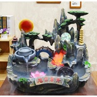GL&G Rockery Water Creative Fish tank Bonsai Indoor Tabletop Fountains, living room office Resin Crafts Tabletop Scenes Ornaments Humidifier Parts ...