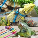 GBSELL Adjustable Reptile Lizard Harness Leash Adjustable Multicolor Light Soft Fashion (orange)