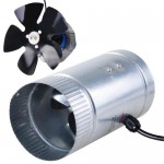 "Light Weight Indoor Garden 4"" 120 CFM Inline Duct Booster Vent Fan Blower Aluminum Blade"