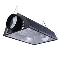 "Giantex 6"" Air Cooled Hood Reflector Hydroponics Light Grow Hydroponic w/Glass Cover"
