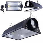"6"" Air Cooled Hood Reflector Hydroponics Grow Light with Glass Cover"