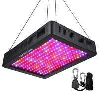 Growstar 2000W LED Grow Light, Double Chips LED Grow Lamp Full Spectrum for Hydroponic Indoor Plants Flower and Veg with UV IR Daisy Chain (12-Band...