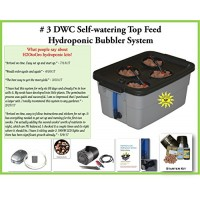 Complete Hydroponic system DWC SELF-WATERING Bubbler Kit # 3-4 H2OtoGro