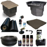 20 x 25 Large Koi Pond Kit 5500 GPH Pump Big Bahama 26 Inch Waterfall and PondBuilder Skimmer LH2