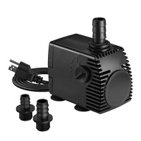 Homasy 320GPH (1200L/H, 22W) Submersible Pump, Ultra Quiet Fountain Water Pump with 4.1ft Power Cord, 3 Nozzles for Aquarium, Fish Tank, Pond, Stat...