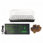 HTGSupply Floating Seed Starter Germination Kit with Root Plugs & Heat Mat