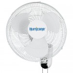 Hurricane Wall Mount Fan - 16 Inch | Classic Series | Wall Fan with 90 Degree Oscillation, 3 Speed Settings, Adjustable Tilt - ETL Listed, White