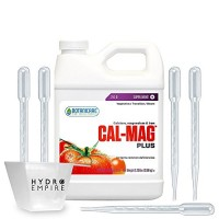 Botanicare Cal Mag Plus Quart Calcium And Magnesium Organic Nutrients Plant Food - 5 Pipettes And 4oz Measuring Cup Bundle Calmag Plus Miracle Hydr...