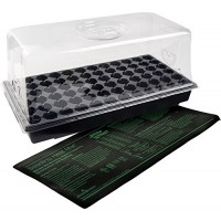 Jump Start CK64060 Hot House with Heat Mat, Tray, 72 Cell insert, 7.5 Inch Dome
