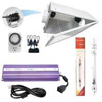 Hydroplanet™ Double Ended Air Cooled Hood Hydroponic Grow Lights Kit DE Reflector Hood With Dimmable Digital Ballast HPS LAMPS Horticulture Plant G...