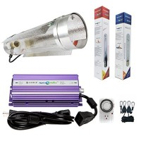 Hydroplanet trade; 400w Air Cooled Tube Hood Set Horticulture Hydroponic 1000W 600W 400W Watt Grow Light Digital Dimmable ballast System for Plants...