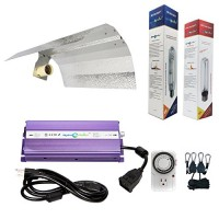 Hydroplanet trade; 600w Hydroponic 600w Watt Grow Light Digital Dimmable Ballast HPS Mh Kit for Plants Gull Wing Reflector Hood Set (600w) (600watt)