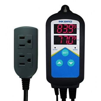 Inkbird ITC-306T Pre-wired Electronic Heating Thermostat Temperature Controller and Digital Timer Controller for Aquarium, Seed Germination, Reptil...