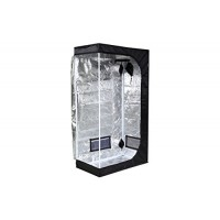 "iPower 36""x20""x62"" Hydroponic Mylar Grow Tent with Observation Window, Tool Bag and Floor Tray for Grow Light and Indoor Plant Growing"