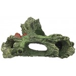 Jardin Hollowed Out Tree Stem Shape Aquatic Resin Decor for Fish Tank
