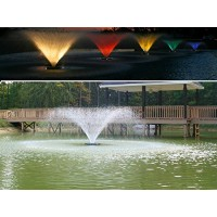 Kasco Decorative Aerating Lake & Pond Fountain WITH LED LIGHTS - 3/4 HP VFX 100ft cord (3400vfx + LED lights w/ 150ft cord)