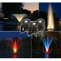 Kasco Marine 6 LED Light Fountain 2 Hp floating lake and pond fountain w/ lighting 8400JFL (w/ 250 ft. cord)