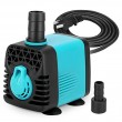 KEDSUM 130GPH Submersible Pump (600L/H,10W), Ultra Quiet Water Pump with 3ft High Lift, Fountain Pump with 4.6ft Power Cord, 2 Nozzles for Fish Tan...