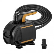 KEDSUM 580GPH Submersible Pump, 35W Ultra Quiet Water Pump with 6ft High Lift, Fountain Pump with 5 ft Power Cord, 2 Nozzles for Fish Tank , Pond ,...
