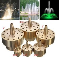 Kisstaker Garden Landscape Fountain Nozzle Fireworks Shape Brass Fountain Spray Head (1/2 inch)