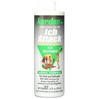 KORDON  #39446  100% Natural and Herbal Formula Ich Attack-Ich Treatment for Aquarium, 16-Ounce