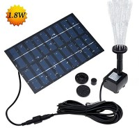 LATITOP 1.8W Solar Fountain Free Standing Floating, Submersible Solar Water Pump with 4 Sprinkler Heads for Different Water Flows, Perfect for Bird...