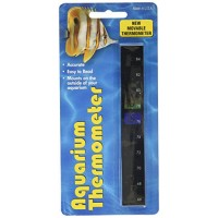 LCR Hallcrest A-1005 Liquid Crystal Vertical Aquarium Thermometer