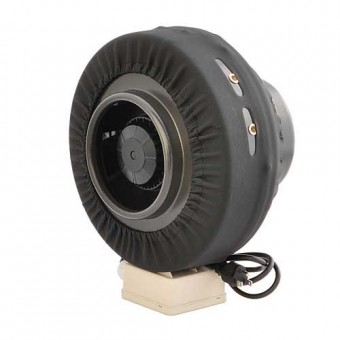 LEDwholesalers GYO2401 6-Inch 206 CFM Air Duct Inline Centrifugal Hydroponic Exhaust Fan