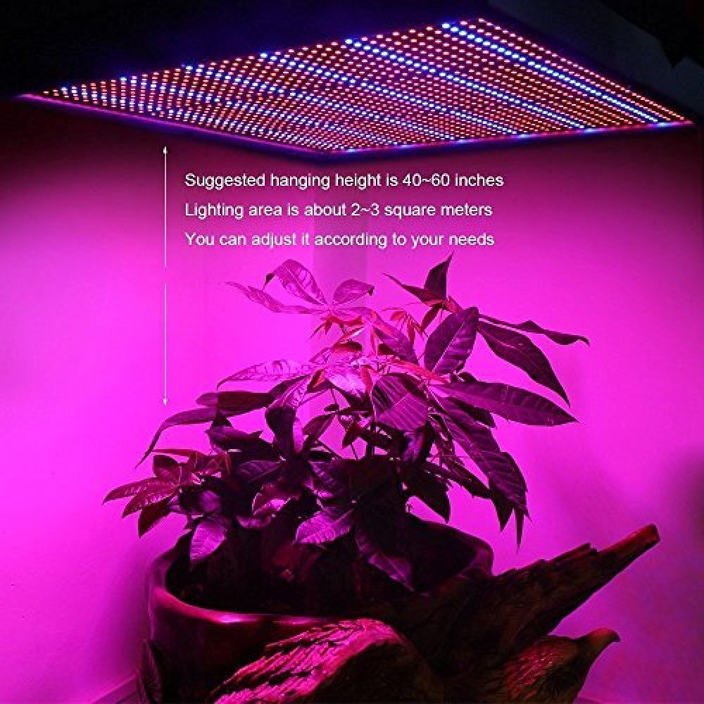 50W LED Grow Light Hanging Panel Plant Growing for Hydroponic Aquatic Indoor LJ