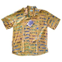 Mad Gringo The Fish Bones, Casual Tropical Hawaiian Beach Shirt