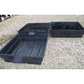 "Three- Aquaponics - Hydroponics & Pond Grow Bed and Bio-Filter with 8"".Spillw..."