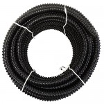 """1 1/4"""" I.D. x 25' Black UL/US Non Kink Corrugated PVC Water Garden Pond Hose and Tubing"""