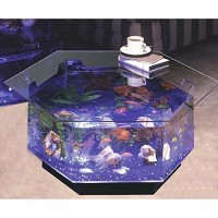 Aqua Octagon Coffee Table 40 Gallon Aquarium