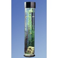 Midwest Tropical Octagon AquaTower 55 Gallon Aquarium Set - 80 in.