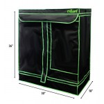 "MILLIARD 30"" x 18"" x 36"" 100% Reflective Hydroponic Mylar Grow Tent with Window, Great for Indoor Planting and Early Seedling Starters"