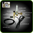 Hydroponics (Co2) Regulator Emitter System with Solenoid Valve Accurate and Easy to Adjust Flow Meter Made of Brass - Shorten up and Double Your Ti...
