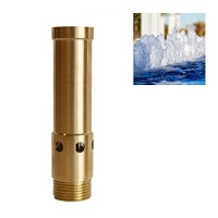 "NAVADEAL 1"" DN25 Brass Bubbling Foam Water Fountain Nozzle Spray Pond Sprinkler - For Garden Pond, Amusement Park, Museum, Library"