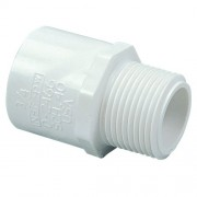 "NIBCO 436 Series PVC Pipe Fitting, Adapter, Schedule 40, 1"" Slip x NPT Male"