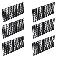 OBANGONG 6 Pcs Grid Isolate Board Divider Fish Tank Bottom Black Filter Tray Aquarium Crate
