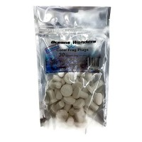 Oceans Wonders Ceramic Bright White Coral Frag Plugs 30 pack