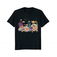 Mens Cool: Clown Fish Coral Reef Tropical Fish Shirt Outfit Gift 2XL Black