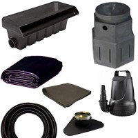 "10' x 15' Small Pondless Waterfall Kit, Pondbuilder PB1762 20"" Waterall & PB1366 Mini Pump Canyon, 3,300 GPH Pump - PSP4"