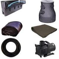 "15 x 20 Large Pondless Waterfall Kit With Anjon 6,100 GPH Hybrid Mag Drive Pump, Savio 31"" Waterfall & Savio Waterfall Well PLS6"