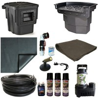 15 x 20 PVC Large Koi Pond Kit 5500 GPH Pump Big Bahama 26 Inch Waterfall and Oasis Skimmer PVCLA8