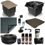 15 x 25 PVC Large Koi Pond Kit 5500 GPH Pump PondBuilder Elite 22 Inch Waterfall and Skimmer PVCLP6